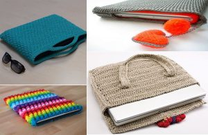 Crochet Laptop Bag
